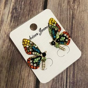 Jewelry - 🆕 multicolored Butterfly 🦋 earrings